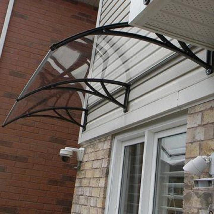 how to build a roof overhang over an exterior door