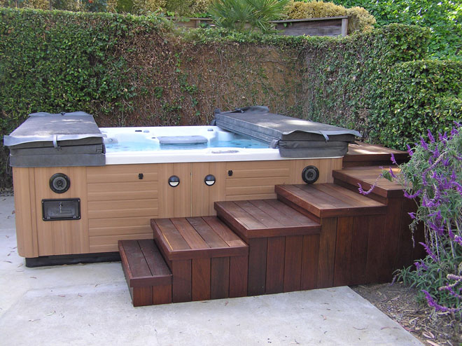 Sunken hot tub deck designs joy studio design gallery for Sutherlands deck kits
