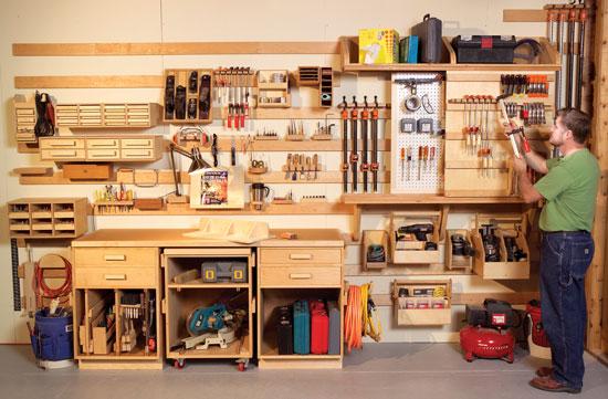 Размещение инструмента в мастерской своими руками 154