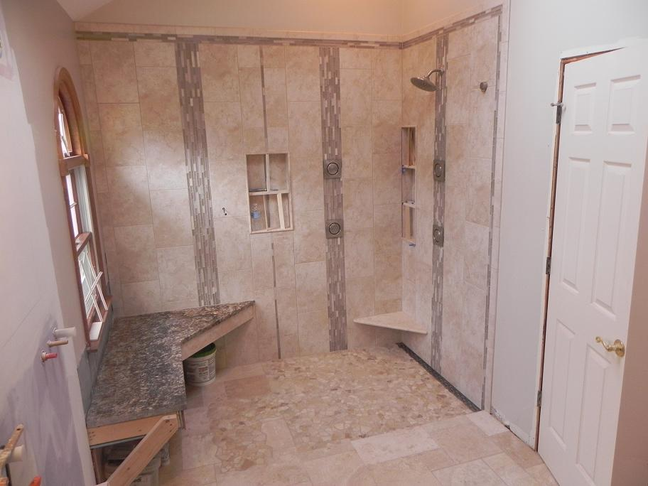 Bathroom Remodel Curbless Shower : Linear drain layout kitchens baths contractor talk