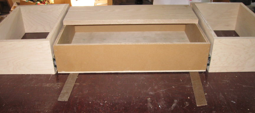 Vanity Toekick Space Step Stool Storage Finish Carpentry