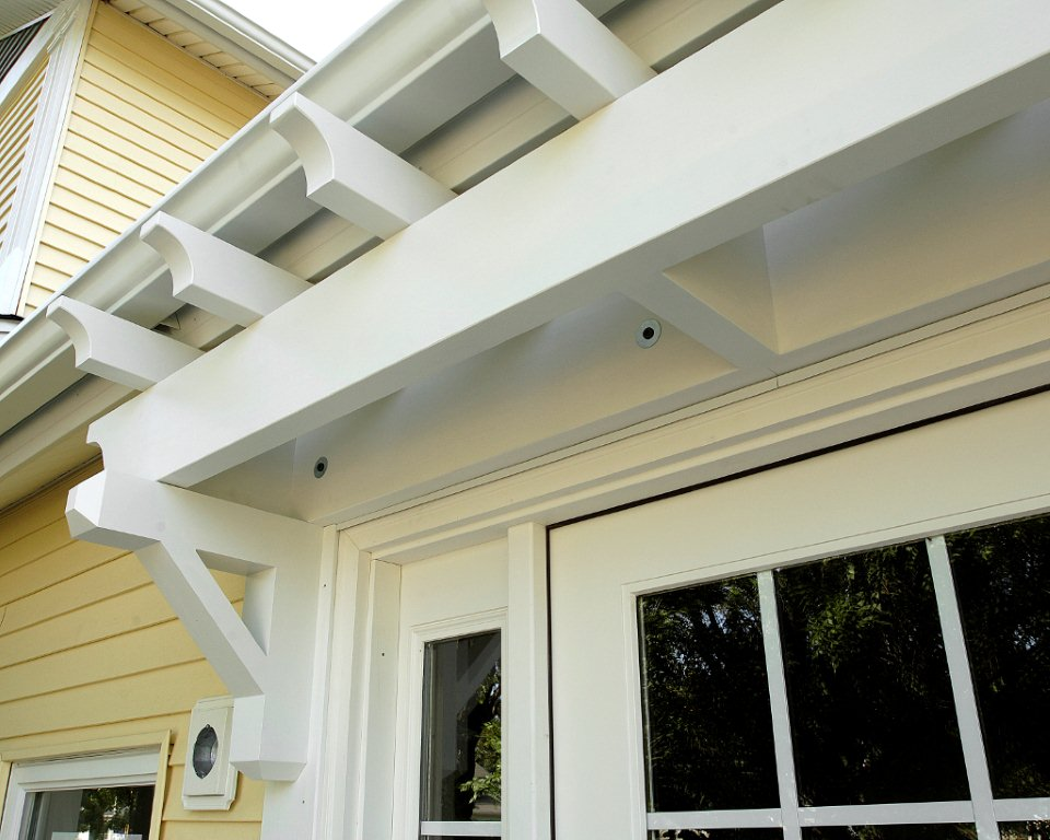 Painting exterior wood structures painting finish work for Fypon pvc trellis system