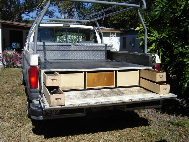 Homemade truck bed slide out - Homemade truck bed drawers ...