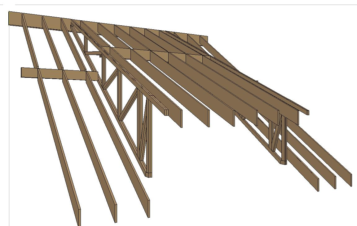 Roof Beams Sidehung From Trusses - Framing - Contractor Talk