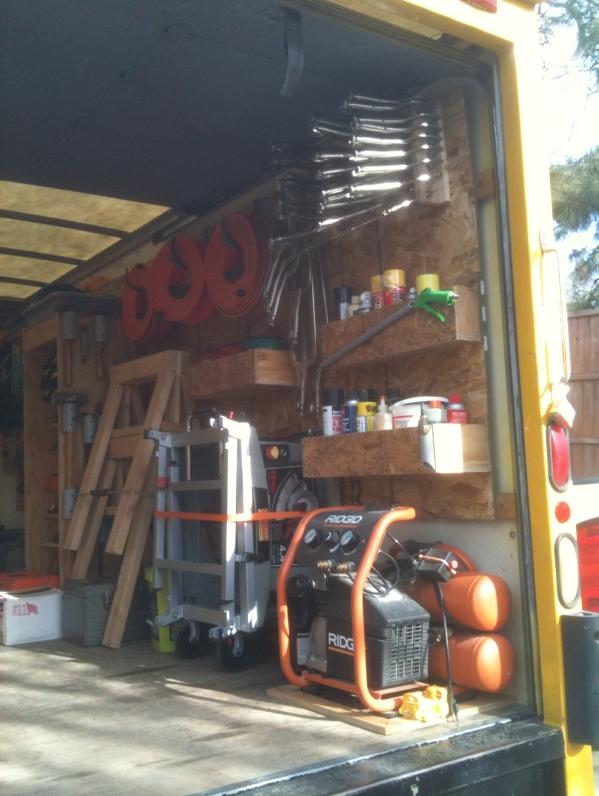 Where To Store Table Saw And Miter Saw In Cargo Van