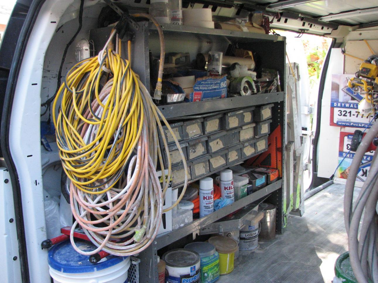 van storage (pic's please) - vehicles - contractor talk Storage Ideas Van