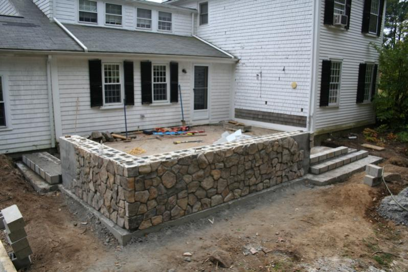 Raised patio masonry picture post contractor talk - Pictures of raised patios ...