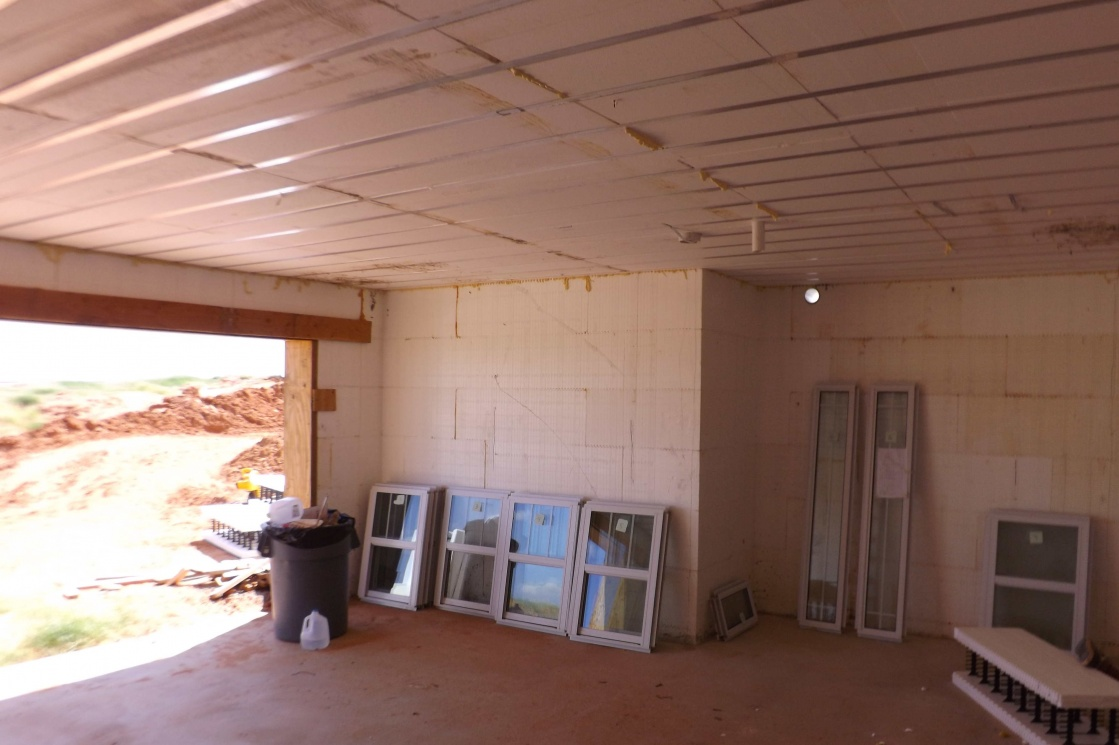 Icf basement and cap weatherford oklahoma for Icf basement
