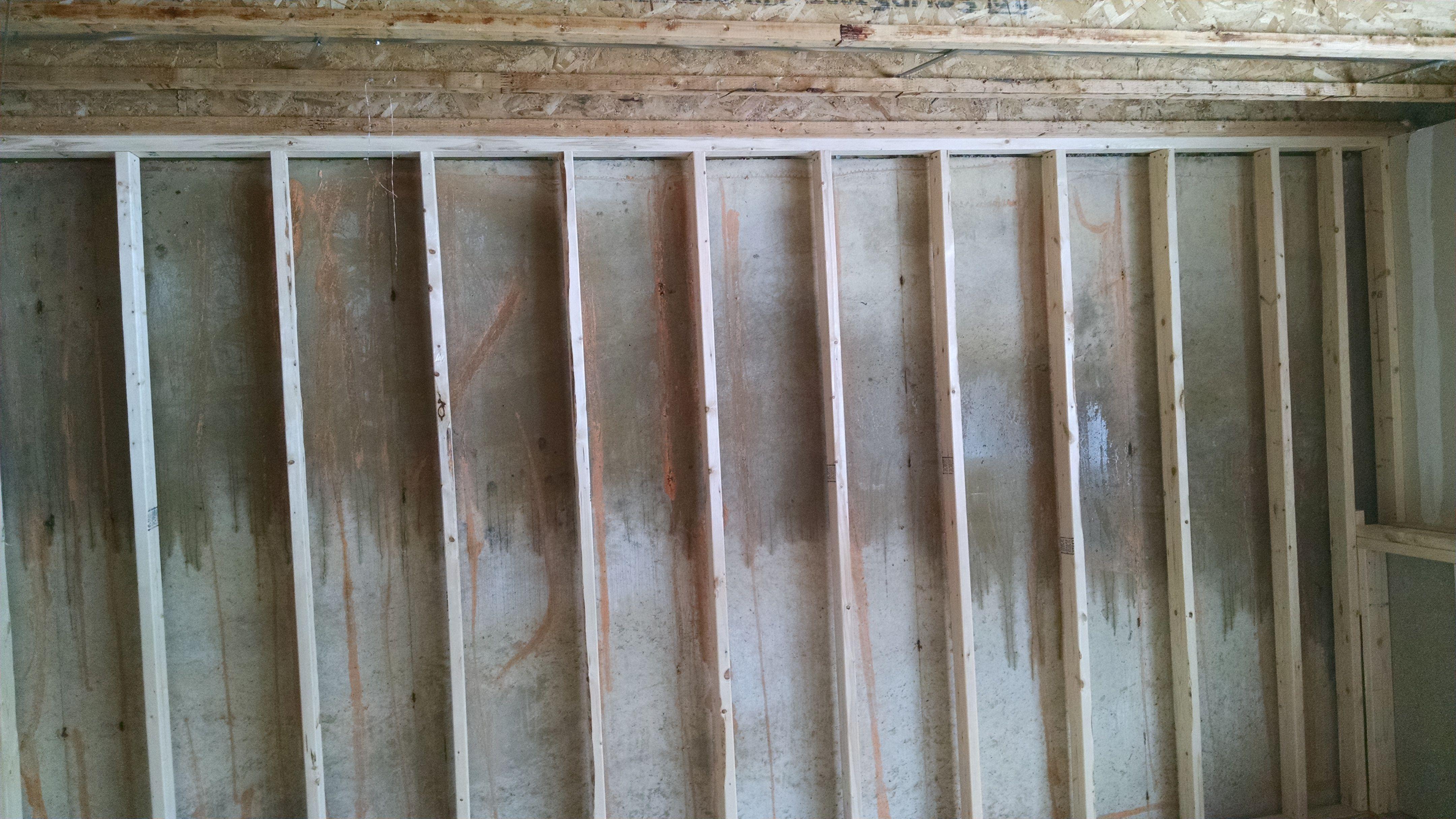 Moisture on poured walls - basement remodel-wallmoisture.jpg