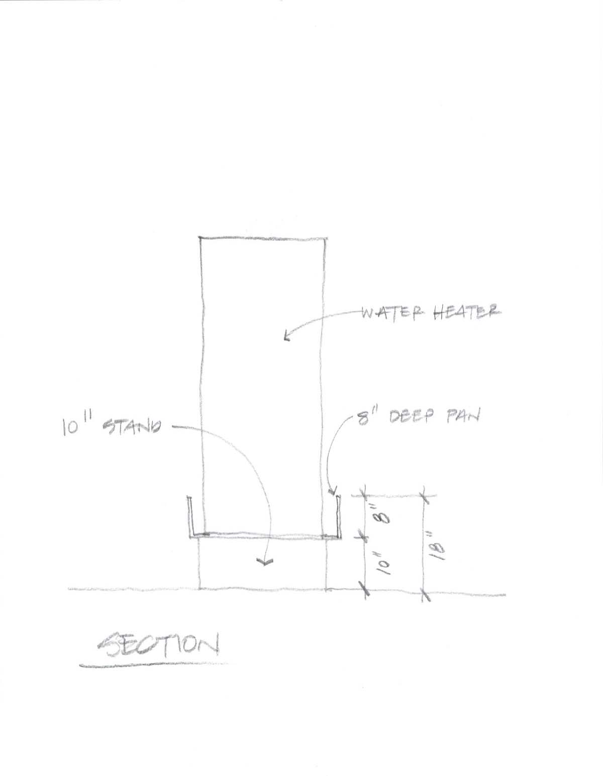 "Question about raising gas water heater 18"" above floor.-water-heater-sketch.jpg"