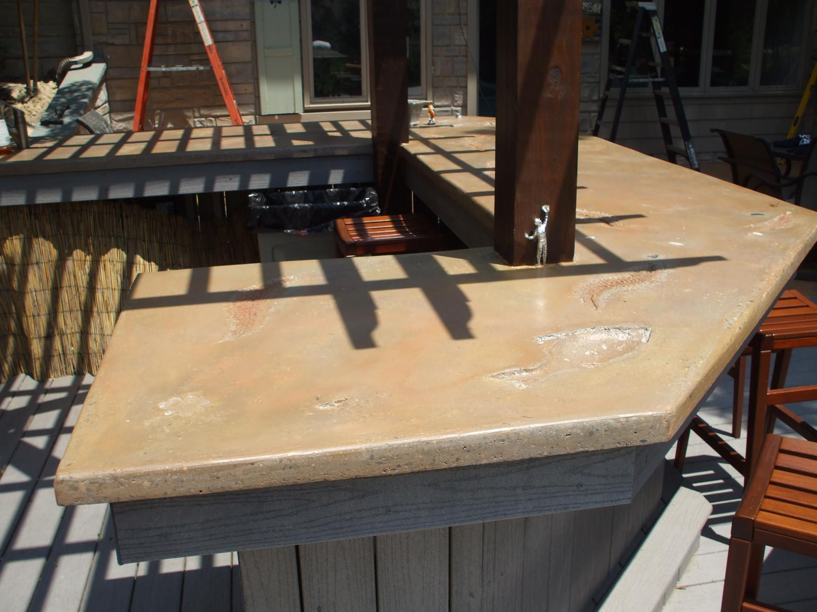 Outdoor Concrete Counter Tops - Masonry - Contractor Talk