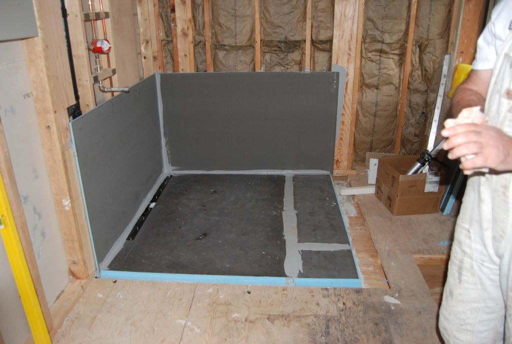 Akw curbless tile shower page 2 tiling contractor talk - Walk in shower base kit ...