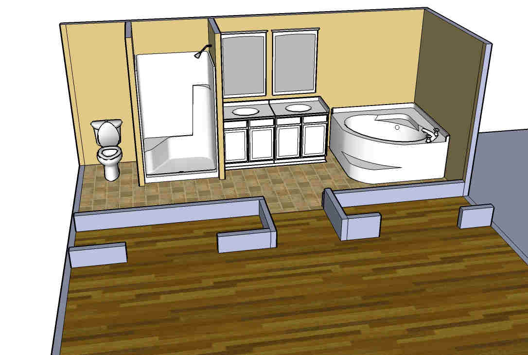 What Do You Guys Think Of The Bathroom Design In New Construction - 5x5 bathroom remodel ideas