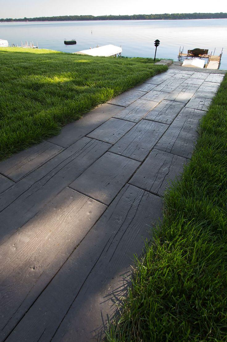 Wood Plank Walkway : Concrete walkway masonry picture post contractor talk