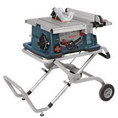 Bosch 10: Worksite Table Saw with Gravity-Rise Wheeled Stand 4100-09