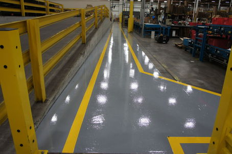 Epoxy Flooring Aisle Ways With Safety Lines Contractortalk