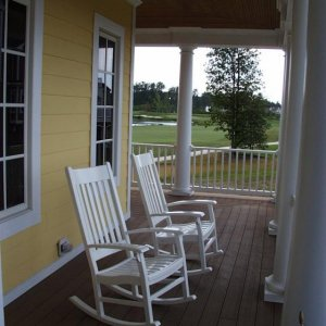 Front Porch Sittin' - view of 11th green in background