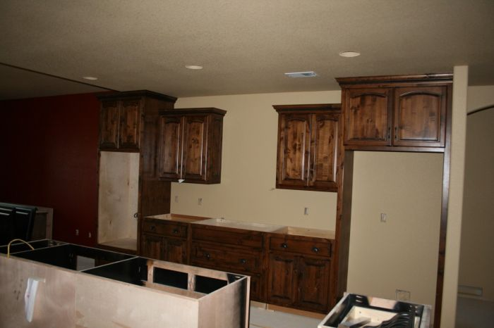 2 tone stained kitchen cabinets two toned colors for cabinets finish carpentry 10115
