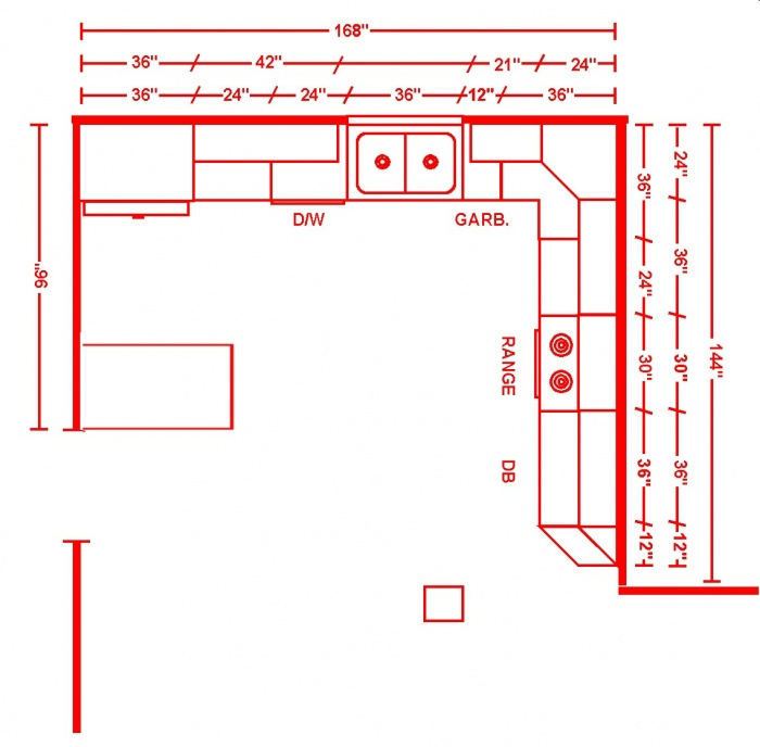U-Shaped Kitchen Layout Ideas - Page 2 - Remodeling - Contractor Talk