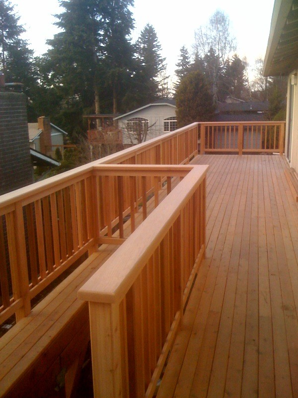 Fence Deck Construction Picture Post Contractor Talk