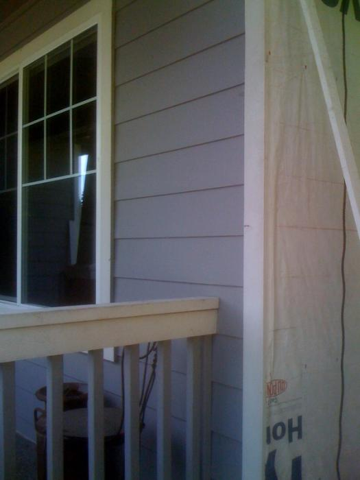 Corner Board Over The Siding Or Against The Building