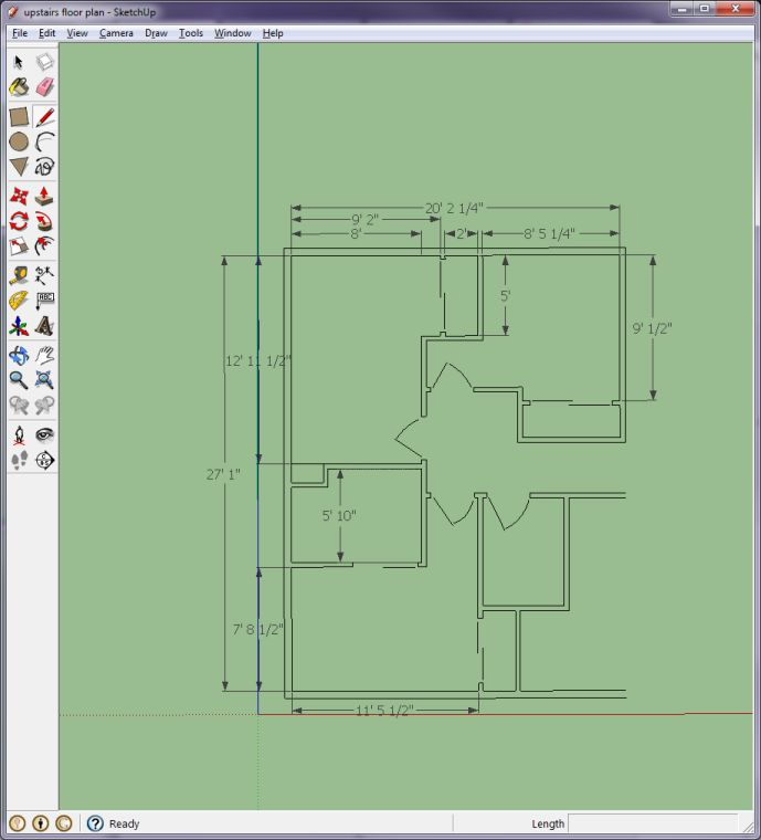 Learning sketchup drafting cad forum contractor talk for Floor plans in sketchup